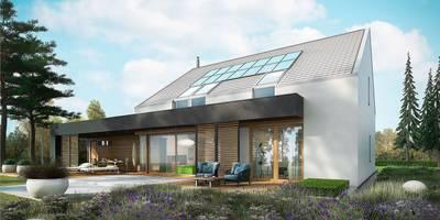 EX 18 G2 ENERGO PLUS - idealny dom dla miłośników minimalizmu! : styl , w kategorii Dom jednorodzinny zaprojektowany przez Pracownia Projektowa ARCHIPELAG