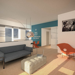 Marco D'Andrea Architettura Interior Design ห้องนั่งเล่น