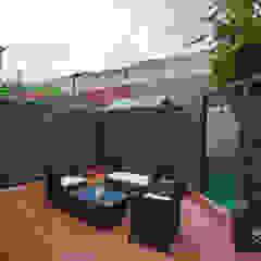 Garden - Canary Wharf من Millennium Interior Designers حداثي