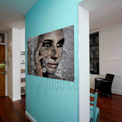 Eclectic style corridor, hallway & stairs by Ametrica & Interior, S.L. Eclectic