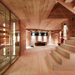 Chalet Gstaad Ardesia Design Cave à vin rustique