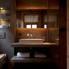 Chalet Gstaad Ardesia Design Salle de bain rustique