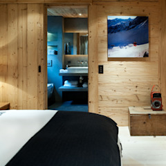Chalet Gstaad Ardesia Design Chambre rustique