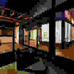 伝統のしつらえと、モダンライフの融合 クラシックデザインの テラス の 吉田建築計画事務所 クラシック