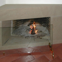 fireplace 2 CHRISTIAN THEILL DESIGN Living roomFireplaces & accessories