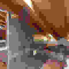 Phòng tắm phong cách Bắc Âu bởi archstudiodesign Bắc Âu