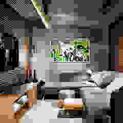 Phòng giải trí phong cách công nghiệp bởi Larissa Maffra Công nghiệp