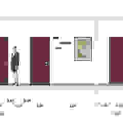 Sezione progettuale Studio moderno di BRENSO Architecture & Design Moderno