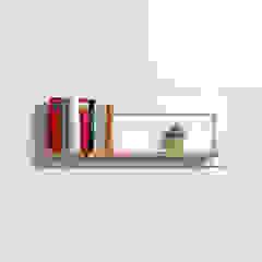 Fläpps Shelf 80x27x1 – White AMBIVALENZ HouseholdStorage Kayu Lapis White
