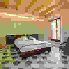 Casa Salina Camera da letto rurale di Viviana Pitrolo architetto Rurale