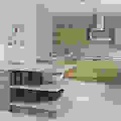 Modern Walnut Kitchen par Kitchens Continental Ltd Moderne