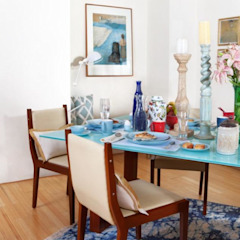A silk Batik rug in a dining area setting by Cocoon Fine Rugs