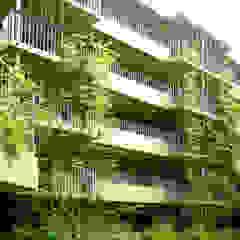 緑の環境の集合住宅 モダンな 家 の ユミラ建築設計室 モダン