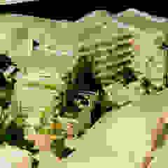 緑の環境の集合住宅: ユミラ建築設計室が手掛けた現代のです。,モダン