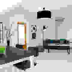 Wohn-/ Essbereich - nachher Industriale Wohnzimmer von raum² - wir machen wohnen Industrial