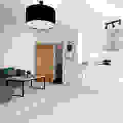 Wohn-/ Essbereich - nachher Industriale Esszimmer von raum² - wir machen wohnen Industrial