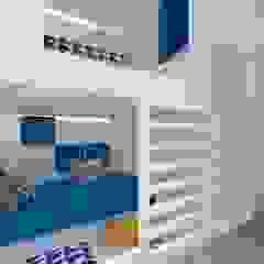 Mieszkanie 2+2, 68m2 Nowoczesny pokój dziecięcy od A+A Nowoczesny