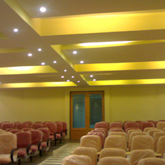 Glass House - Dharmasthala, Classic style media room by Architecture Interior Co. Pvt. Ltd Classic