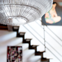 Eclectic style corridor, hallway & stairs by INTERNO B Eclectic