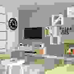 OES architekci Scandinavian style living room