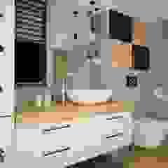 OES architekci Scandinavian style bathroom