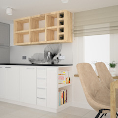 OES architekci Scandinavian style kitchen