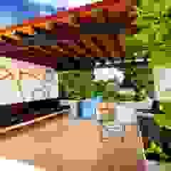 Hiên, sân thượng phong cách Địa Trung Hải bởi Taller Estilo Arquitectura Địa Trung Hải