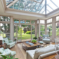 Orangery with Bi-fold Doors by Vale Garden Houses Classic