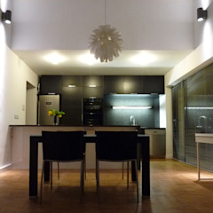 Double Height Open-Plan Kitchen and Dining Room ArchitectureLIVE Modern dining room