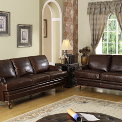 Leather Sofa in a Country House Country style living room by Locus Habitat Country