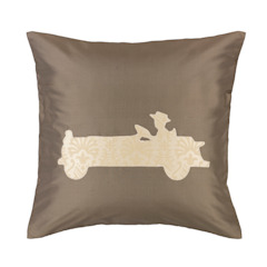Vintage Old Timer Handmade Silk Cushion: classic  by Le Cocon, Classic