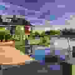 Tijdloze wellnesstuin Alblasserdam Minimalistische zwembaden van ERIK VAN GELDER | Devoted to Garden Design Minimalistisch