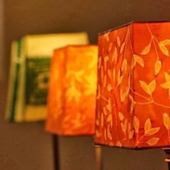 ATELIER IRENE SEMELKA Living roomLighting Textile Yellow