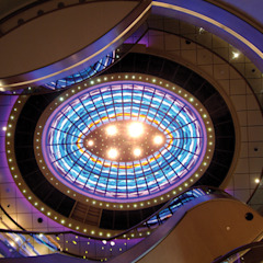 Ceiling of the cruiseship P&O Arcadia Modern commercial spaces by Jo Downs Modern