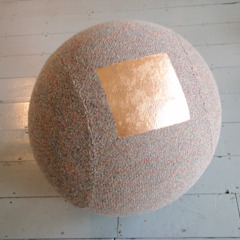 Copper foil on Tweed Seating sphere Mary Goodman Living roomAccessories & decoration