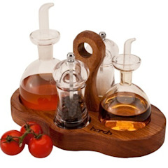 Harch Condiments Caddy Harch Wood Couture KitchenKitchen utensils