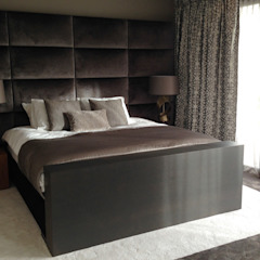 Moderne villa Noord Holland: strak van buiten, warm van binnen! Moderne slaapkamers van choc studio interieur Modern