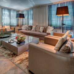 Woonvilla Blaricum Moderne woonkamers van Kabaz Modern