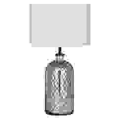 Netted Mercury Glass Table Lamp House Envy Living roomLighting
