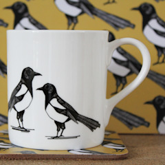 Mischievous Magpie Mug: modern  by martha and hepsie ltd, Modern