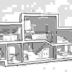 Sketch Section - split levels de Facit Homes