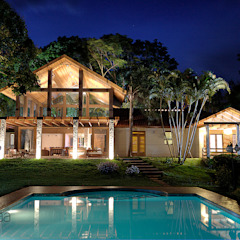 Casas de estilo rural de Olaa Arquitetos Rural