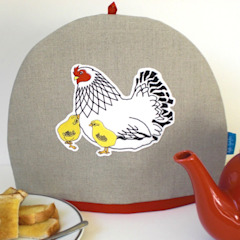 Mother Hen and Chicks Tea Cosy Kate Sproston Design HouseholdTextiles