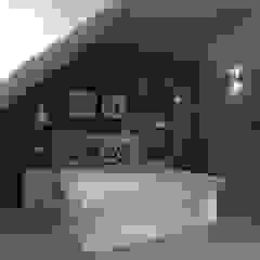 ap. studio architektoniczne Aurelia Palczewska Industrial style bedroom