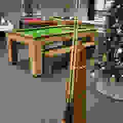 Spartan Pool/Dining Table and Matching Obelisk Cue Rack. Designer Billiards Dining roomTables