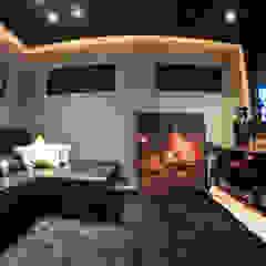 Salas de entretenimiento de estilo moderno de Renato Lincoln - Studio de Arquitetura Moderno