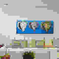 O mar como inspiração! Salas multimídia tropicais por Élcio Bianchini Projetos Tropical
