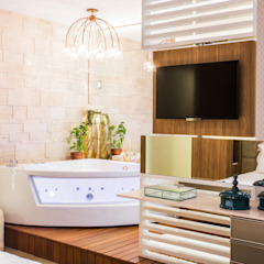 Eclectic style bathroom by Élcio Bianchini Projetos Eclectic