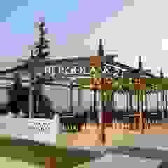 Pergola Wood Modern Balkon, Veranda & Teras PERGOLA A.Ş. Modern