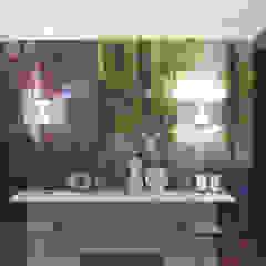 Moss, one off wallpaper eetkamer Boston MA Eclectische eetkamers van Workingbert Eclectisch